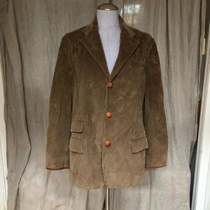 Ralph Lauren brown corduroy leather jacket L